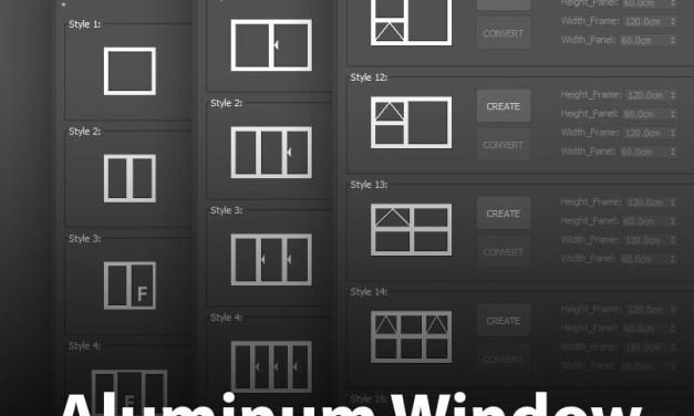 Aluminum Window Generator v2.0 For 3ds Max