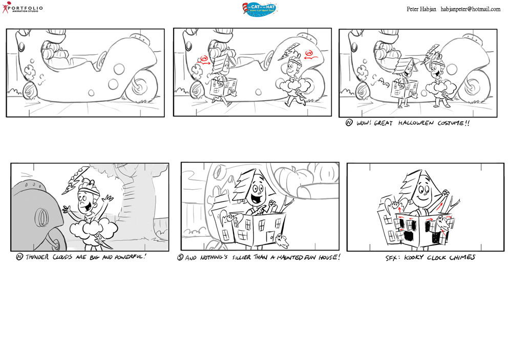 Cat Hat Storyboard