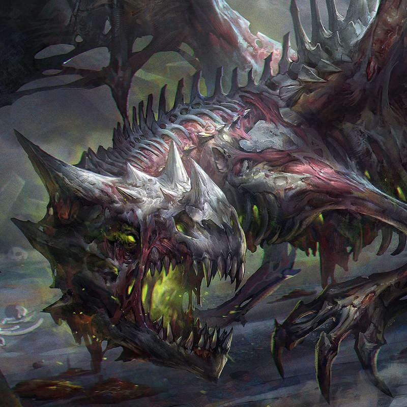 ArtStation Zombie Dragon Jeremy Chong