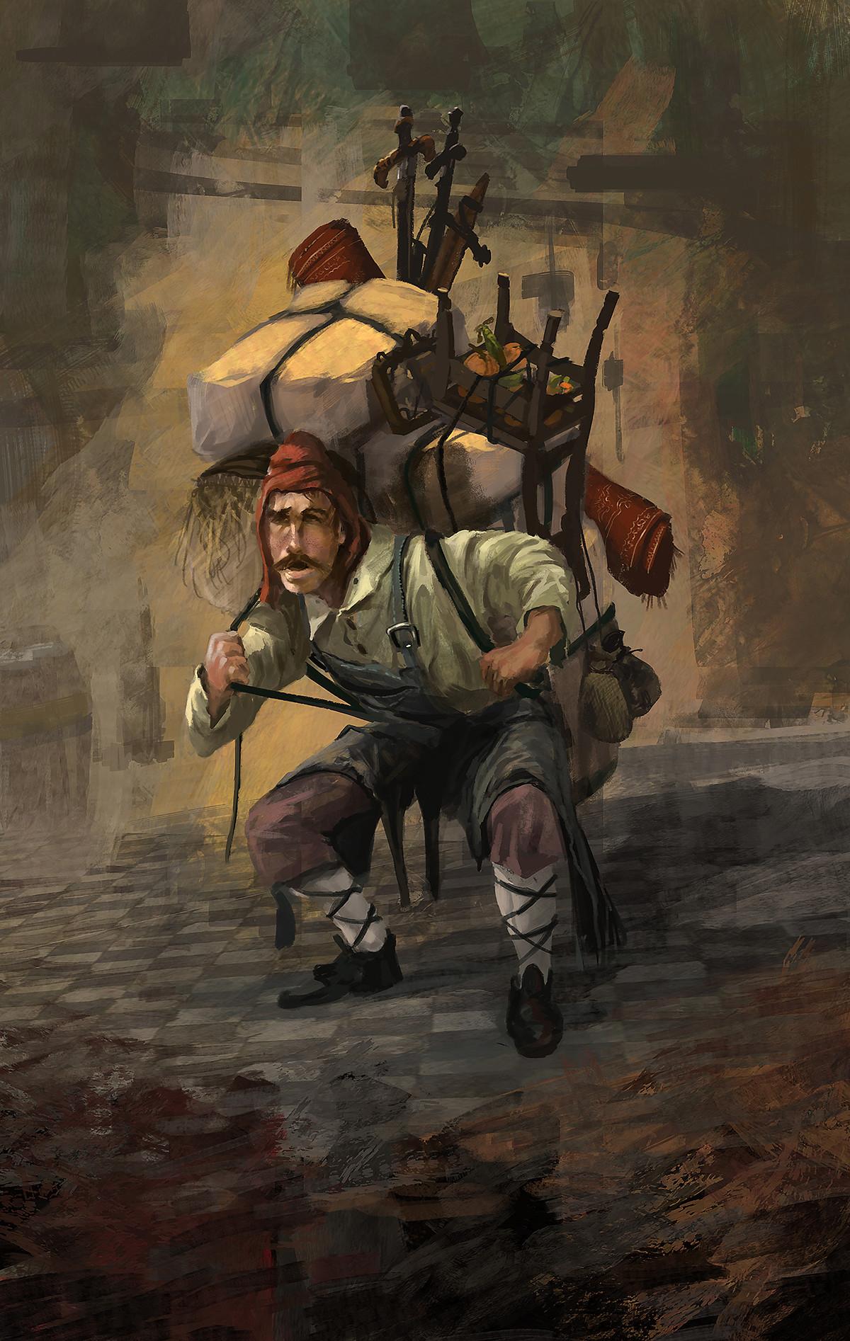 Artstation Character Concept Medieval Merchant Miguel