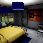 Megan Scott Mid Century Modern Bedroom Archviz