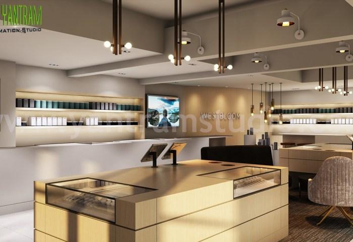 Artstation Shop Interior Design Ideas 3d Interior Modeling By