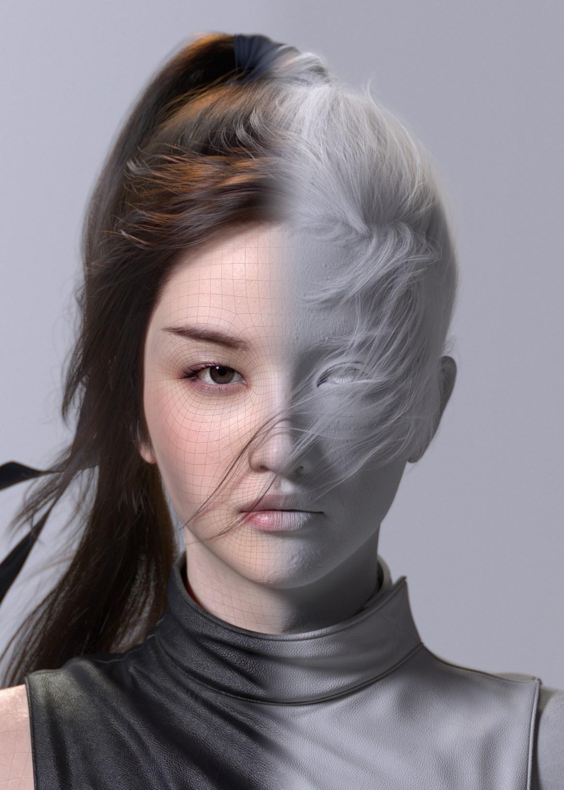 Liu yifei likeness as Mulan (FIN) in Maya by Jung won Park