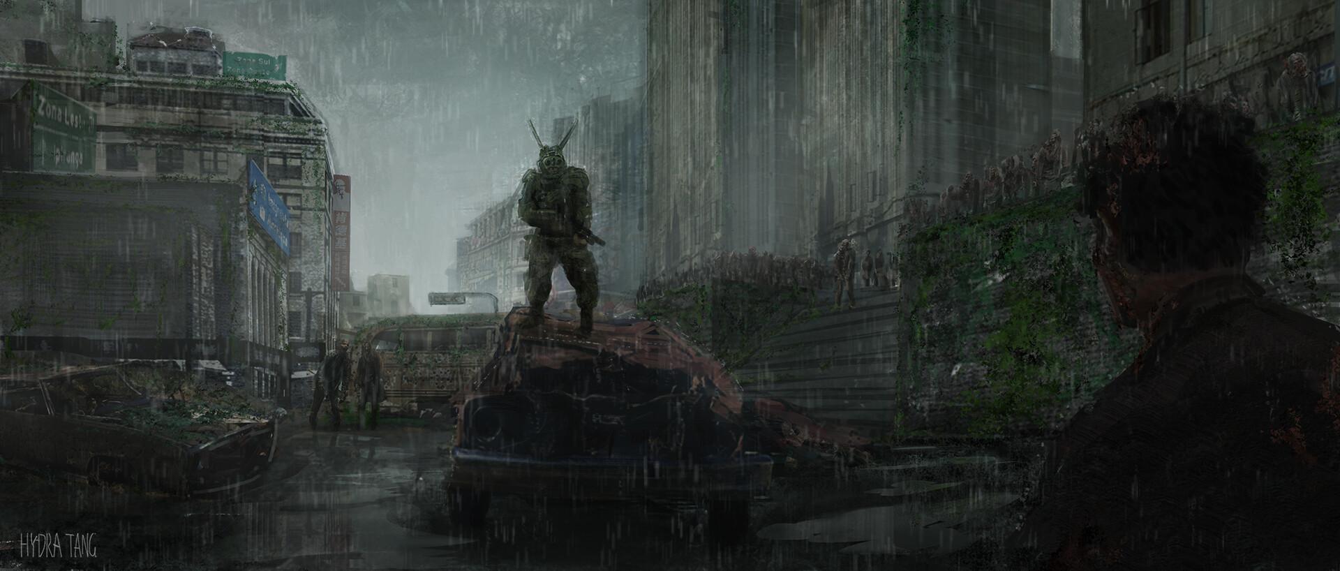 Artstation Abandoned Zombie City Hydra Tang