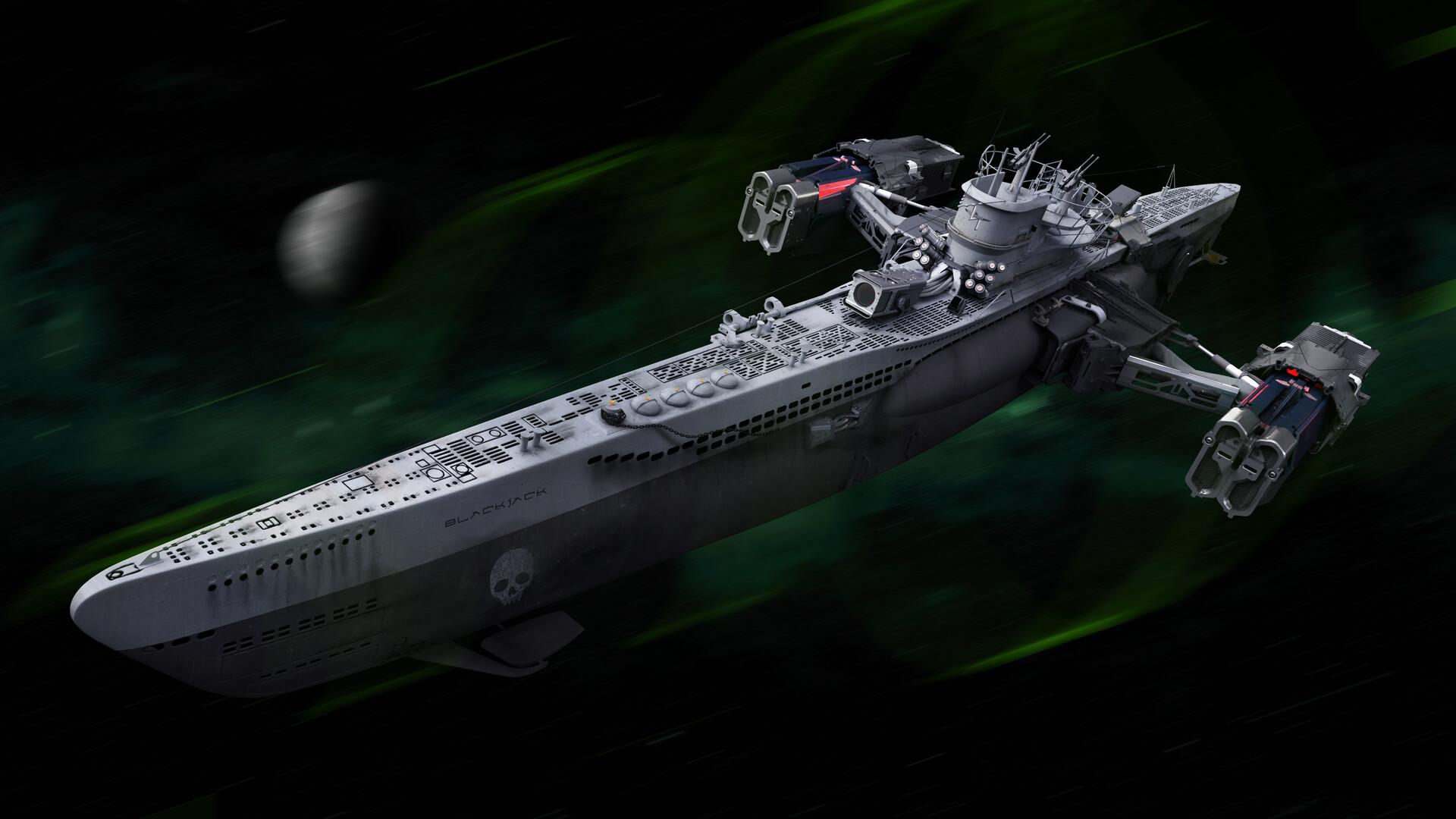 artstation - u-boats make great space pirate ships, josh shapiro