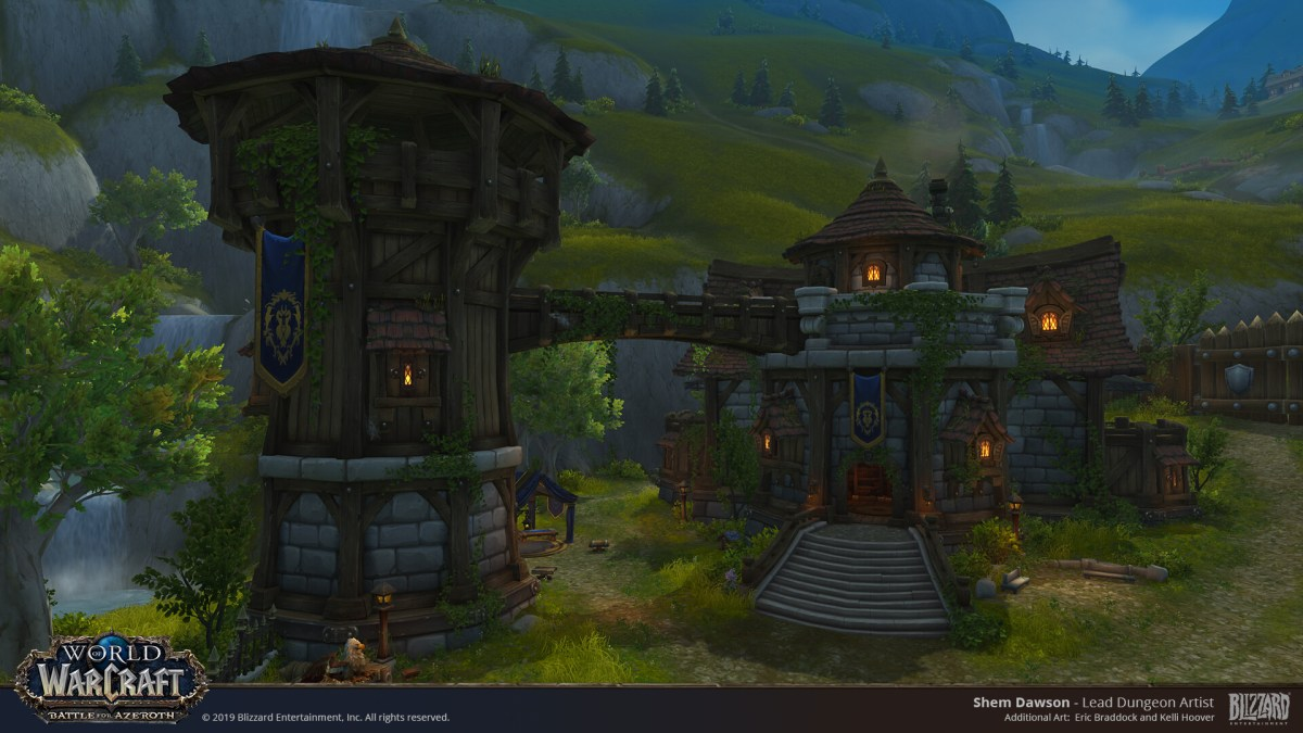 The Alliance Starting Area - Trollbane Hall