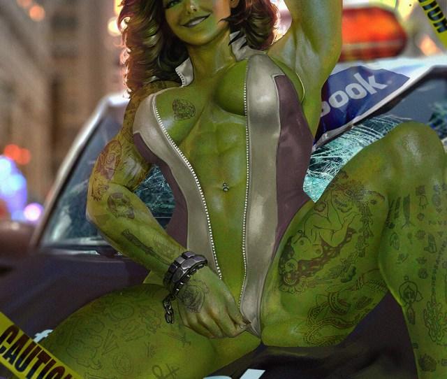 Artstation She Hulk Shikari Shambu