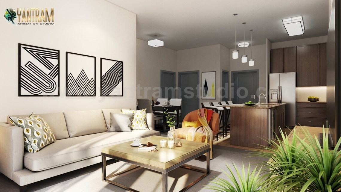 Artstation Modern Kitchen Living Room Combo Decorative Bathroom Interior Design Firms Bangkok Thailand Yantram Architectural Design Studio