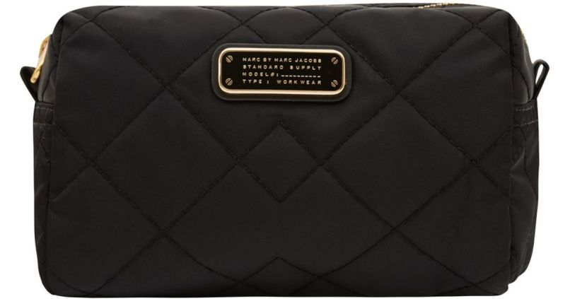 caa2aadde05b Lyst Marc By Jacobs Large Black Crosby Quilted Cosmetic Bag In. Marc Jacobs  Makeup Bag Uk Saubhaya