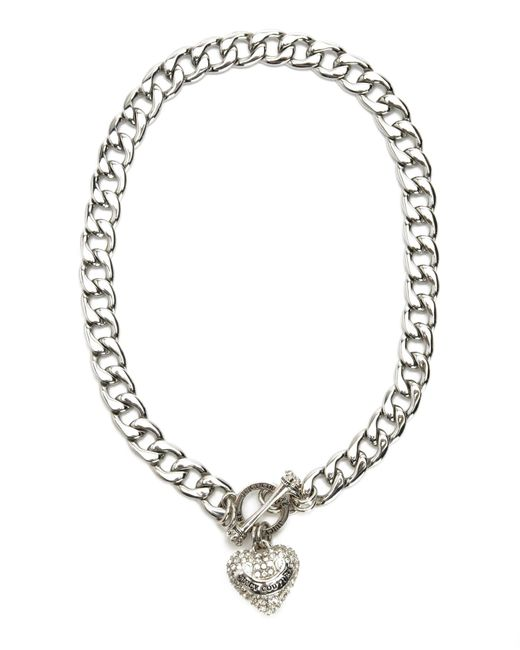 Heart Toggle Necklace Couture Pave Juicy And
