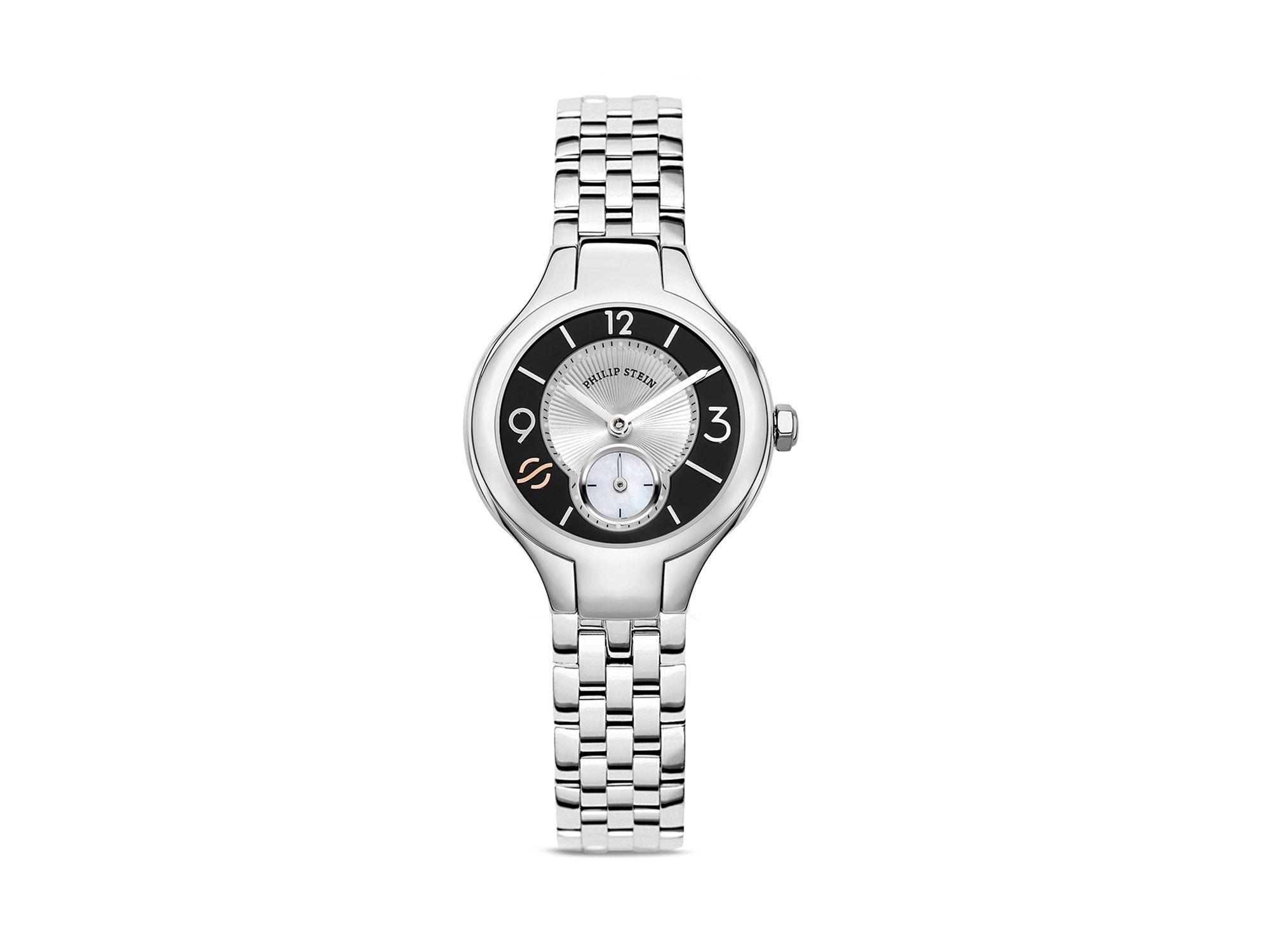 Philip Stein Mini Round Stainless Steel Watch Head 28mm