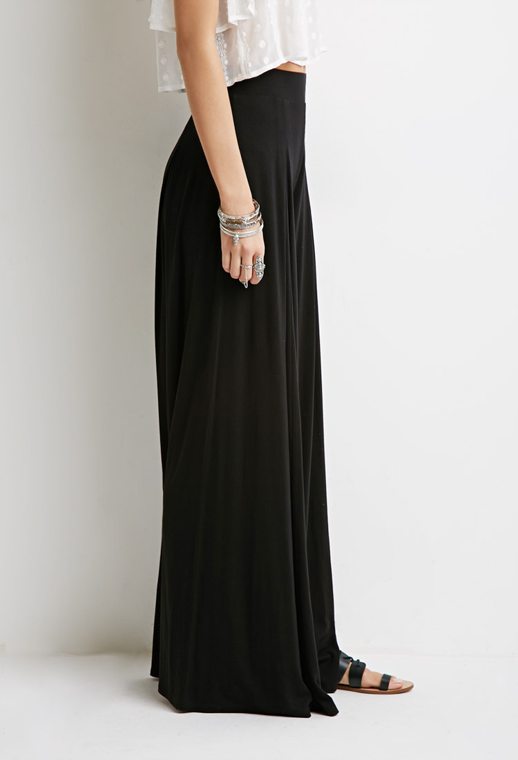 Lyst Forever 21 Box Pleat Palazzo Pants In Black