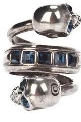 Alexander McQueen Spiral Twin Skull Ring