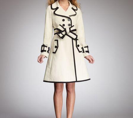 Kate Spade Topliner Two-tone Trenchcoat