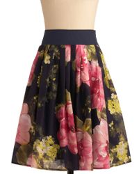 ModCloth Watercolor Canvas Skirt