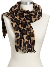 Old Navy Fringed Performance Fleece Scarves in Animal