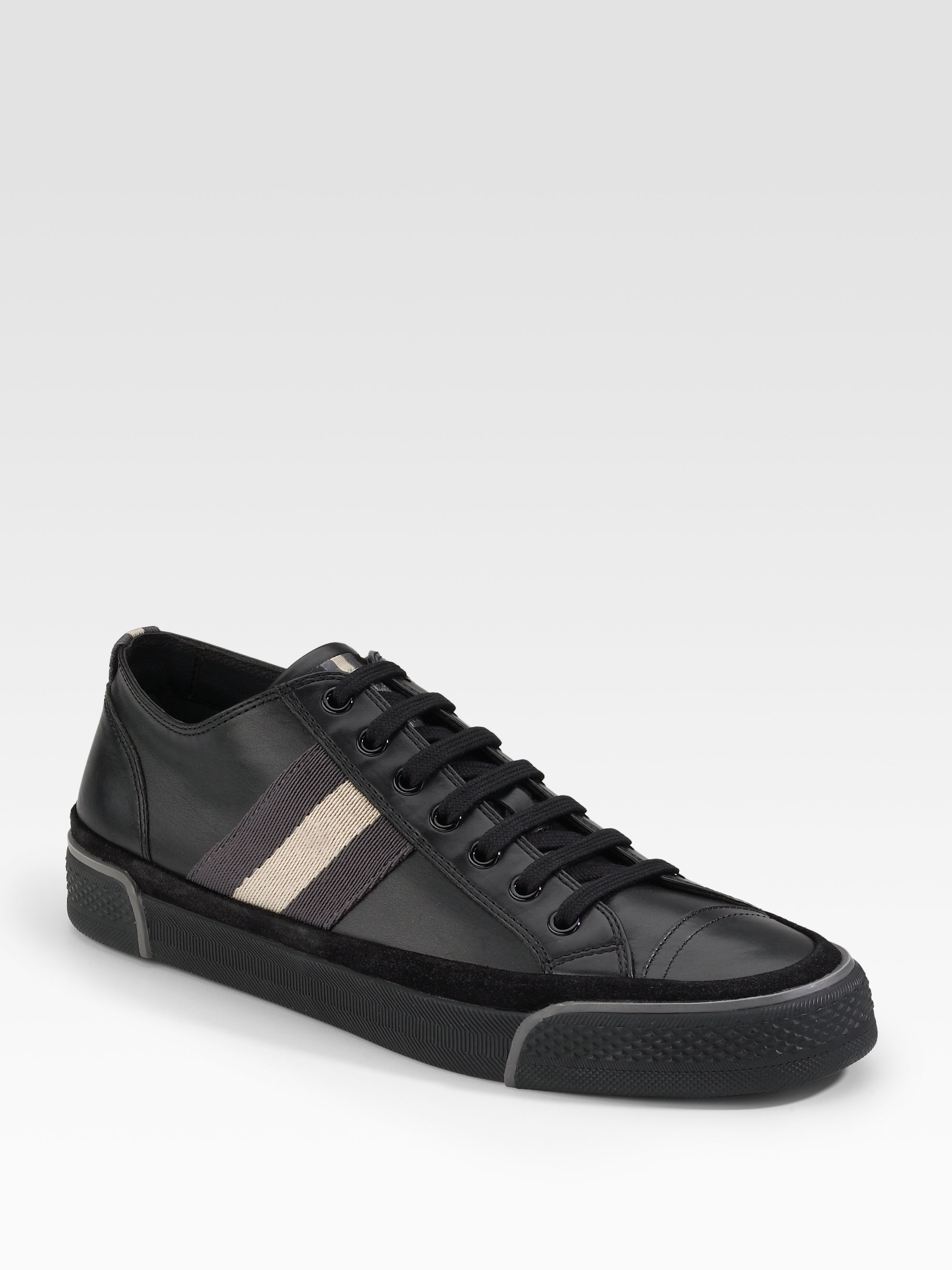 Bally Suede Sneakers In Black For Men