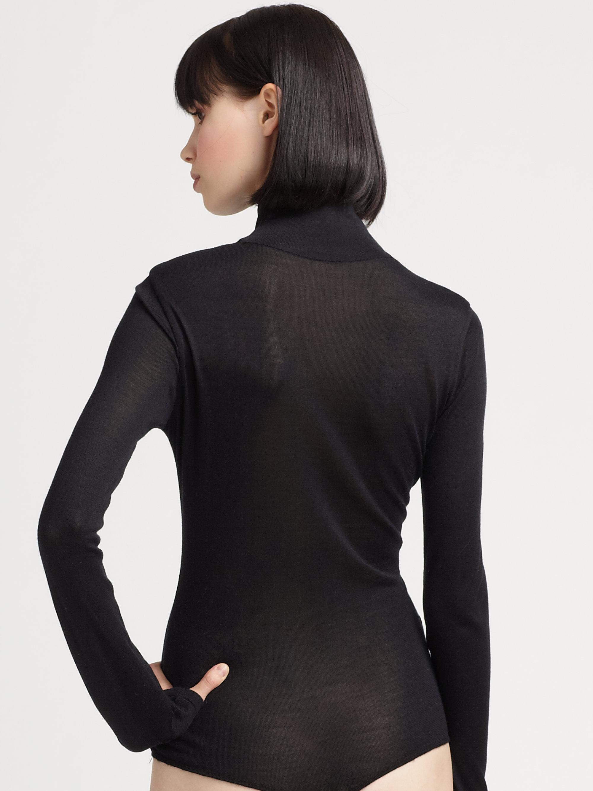 Costume National Silk Bodysuit In Black Lyst