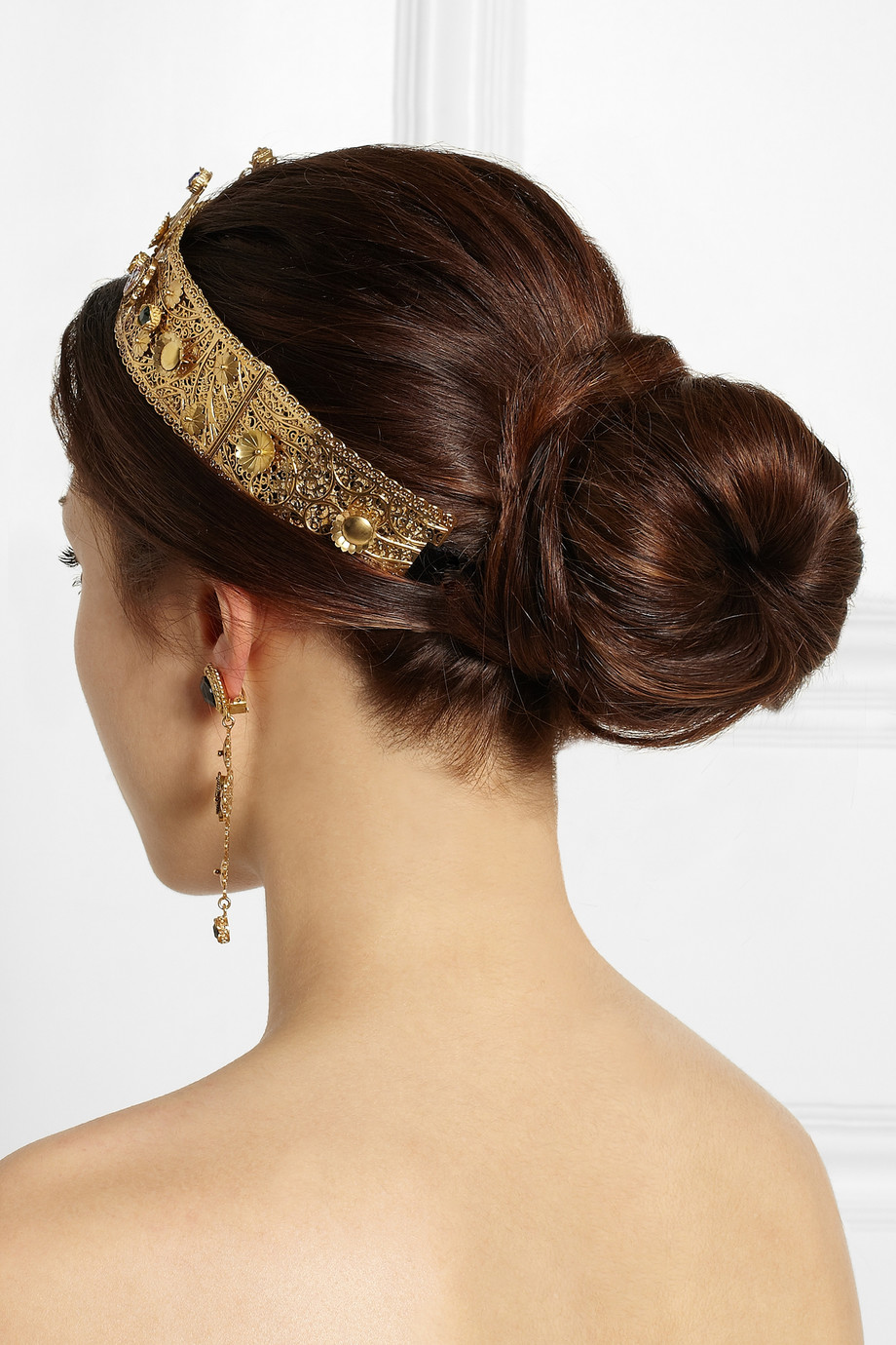 Dolce Amp Gabbana Goldplated Swarovski Crystal Crown In
