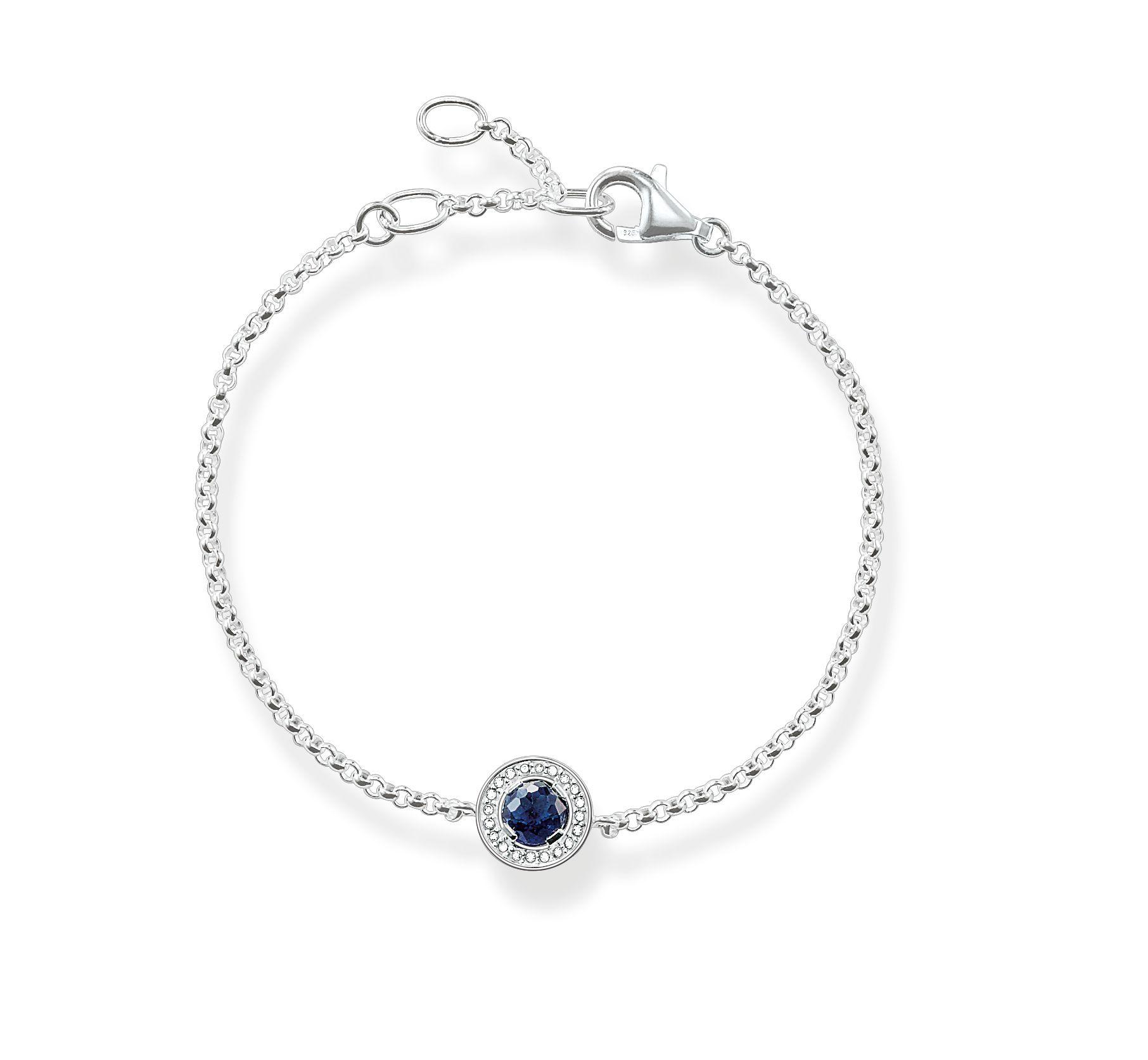 Thomas Sabo Light Of Luna Blue Corundum Bracelet In