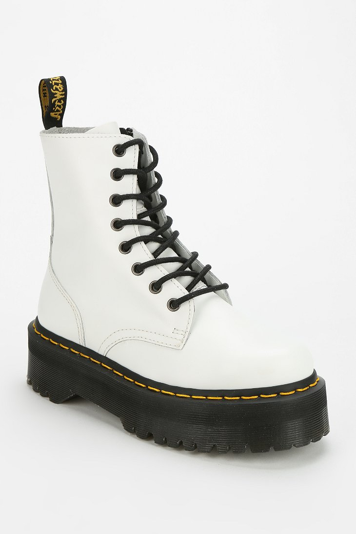 Dr Martens Jadon 8eye Platform Boot In White Lyst