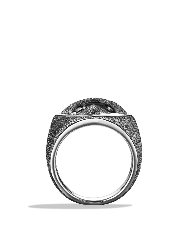 David Yurman Armory Signet Ring In Metallic For Men