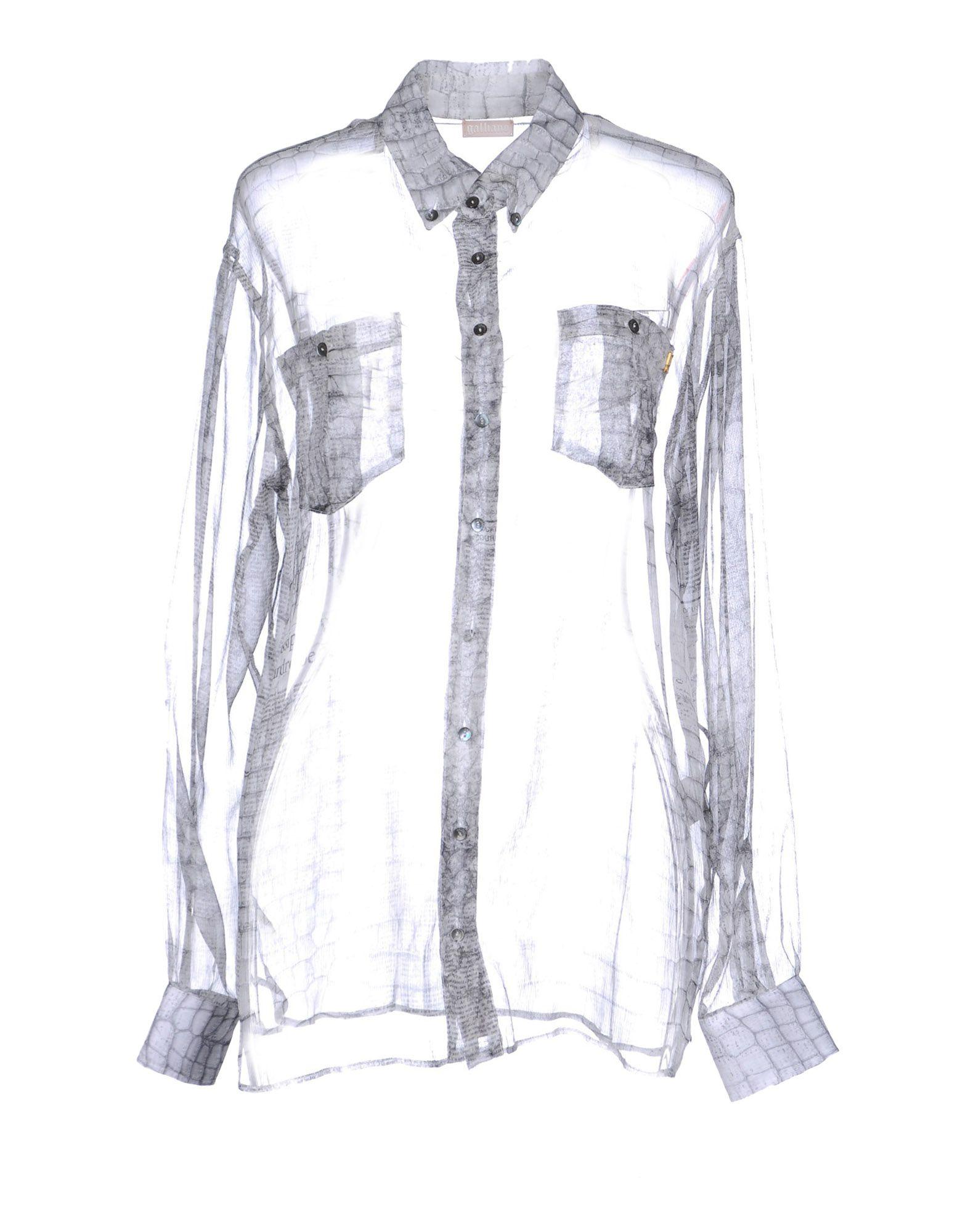 John Galliano Shirt In Gray
