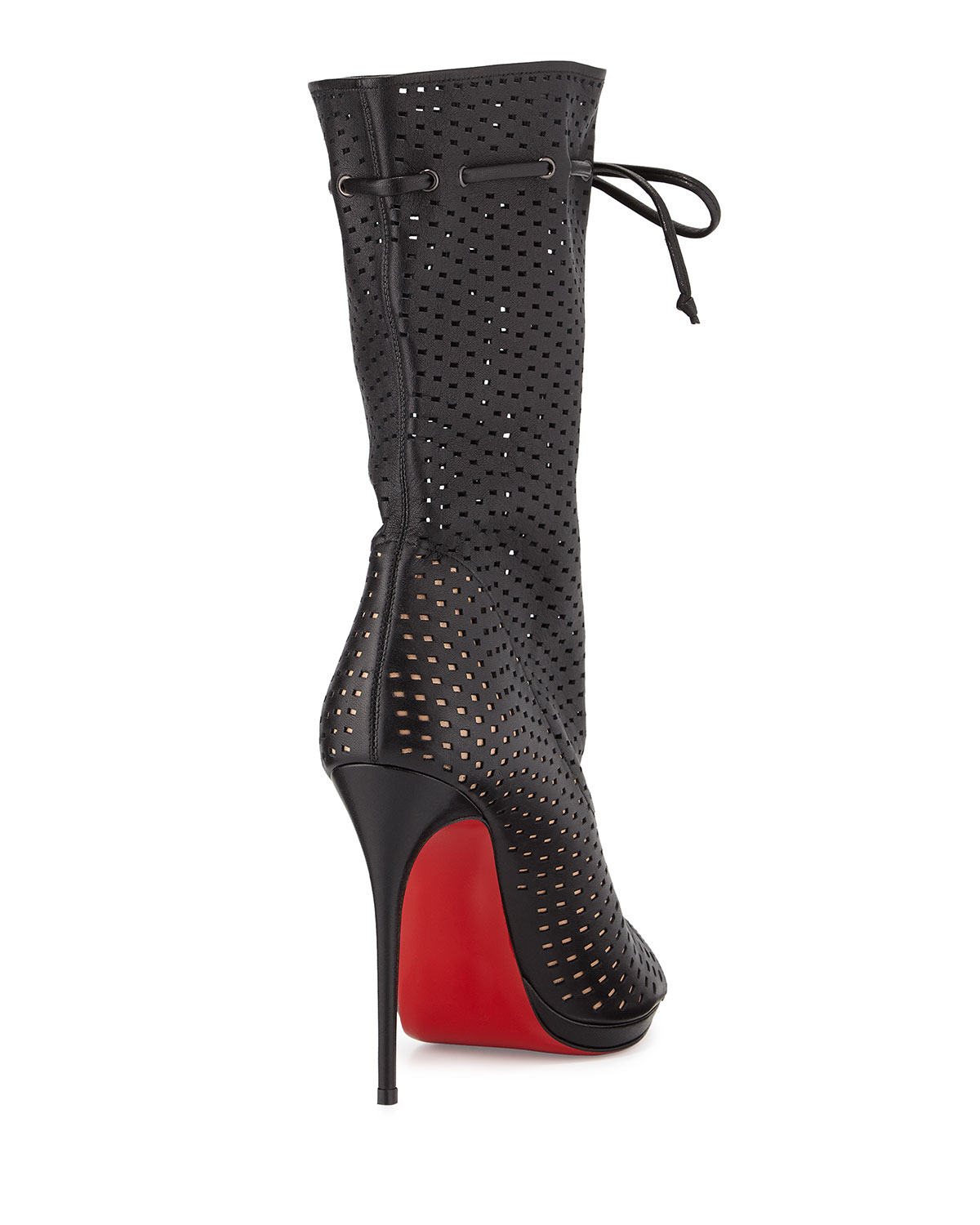 Christian Louboutin Jennifer Perforated Red Sole Boot In