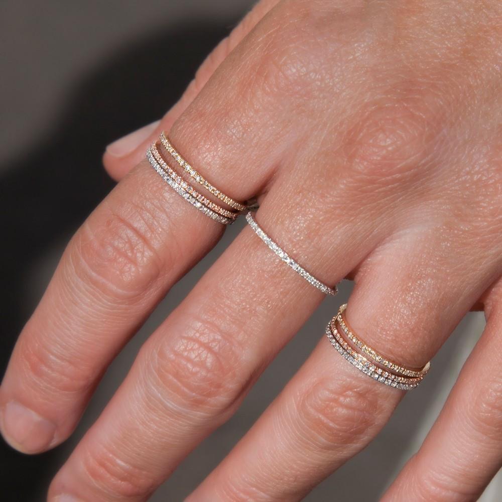 Anne Sisteron 14kt White Gold Diamond Eternity Stacking