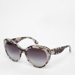 44185870672e Lyst Dolce   Gabbana Floral Cat Eye Glasses