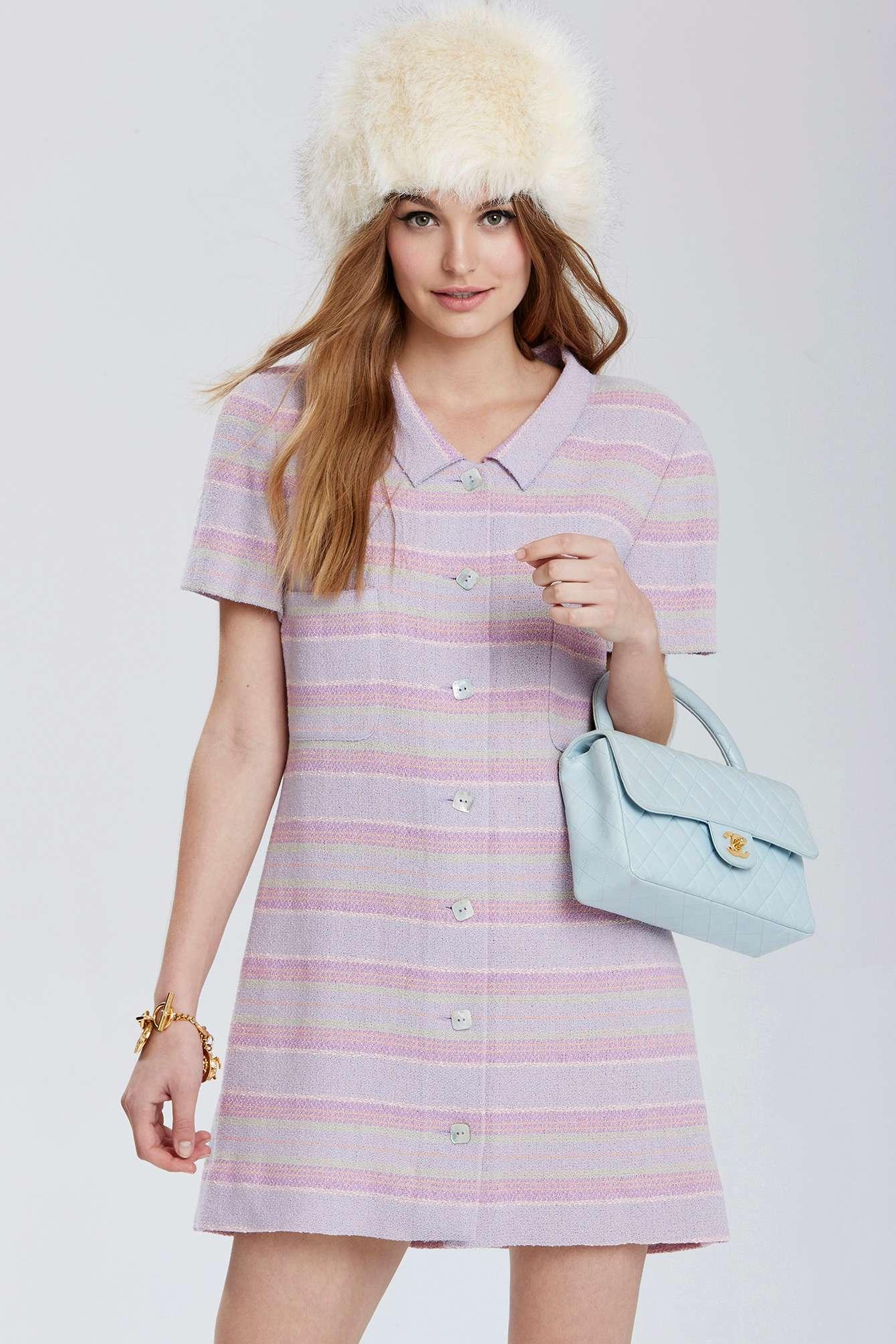 Nasty Gal Vintage Chanel Aubervilliers Tweed Dress In