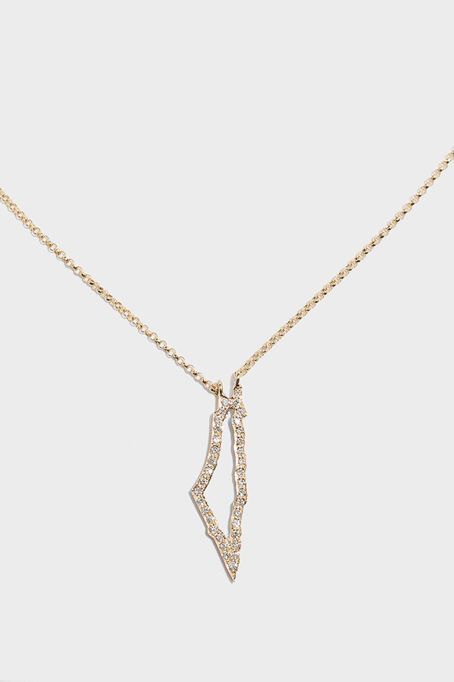 Lyst   Tiba Palestine Map Outline Necklace in Metallic Gallery