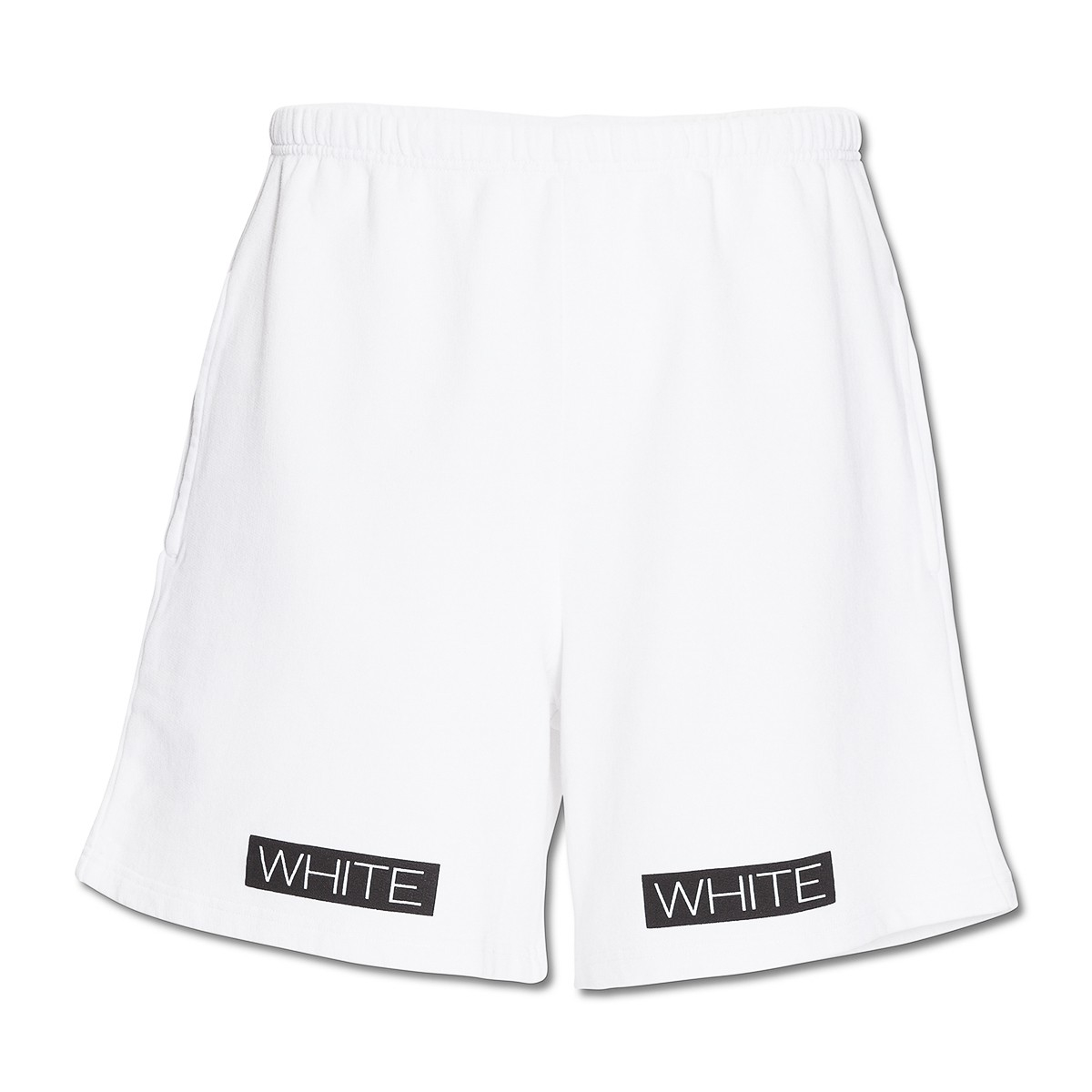 Orange And White Shorts