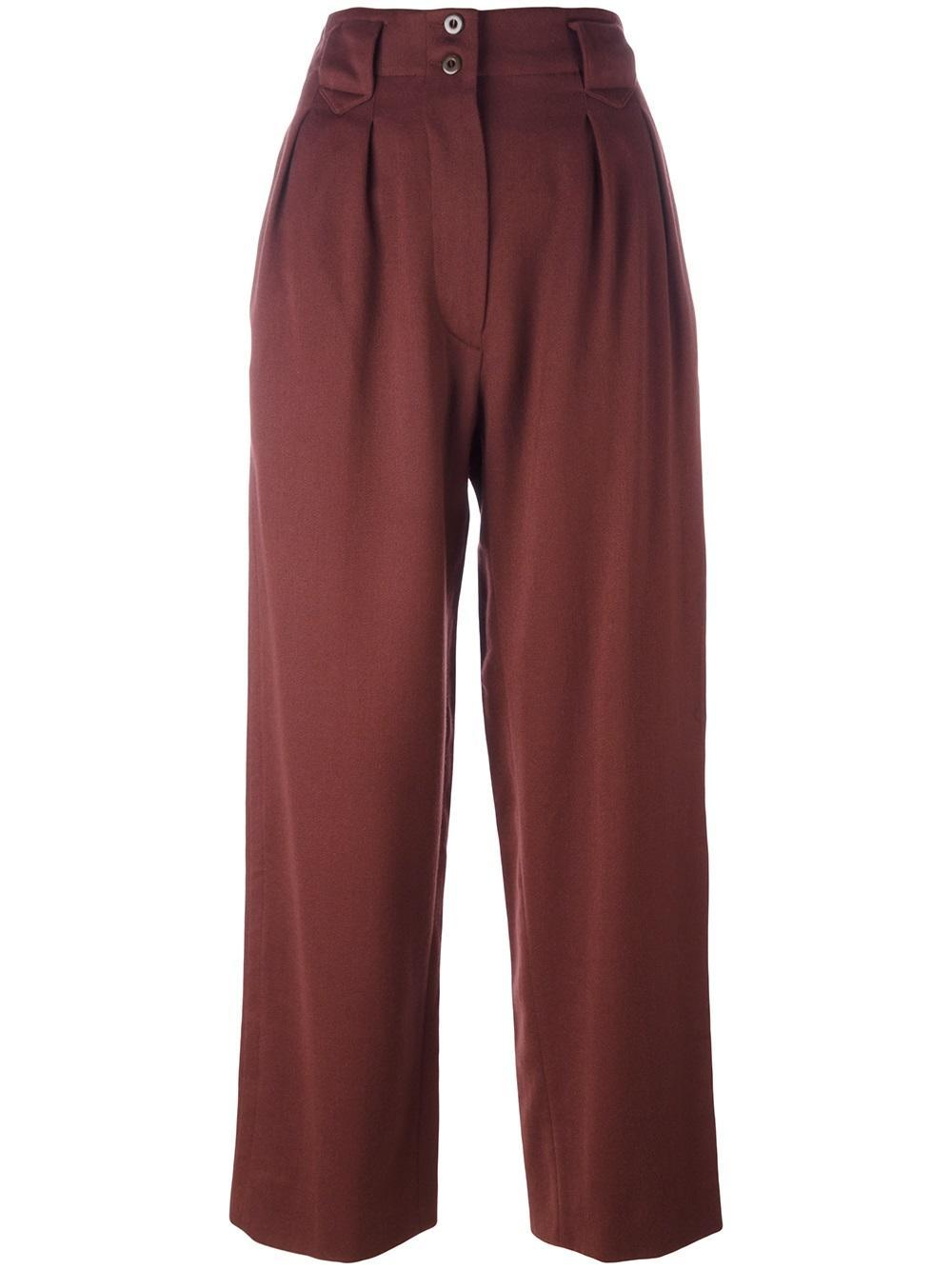 Alaa Alaa Vintage High Waisted Tailored Trousers In