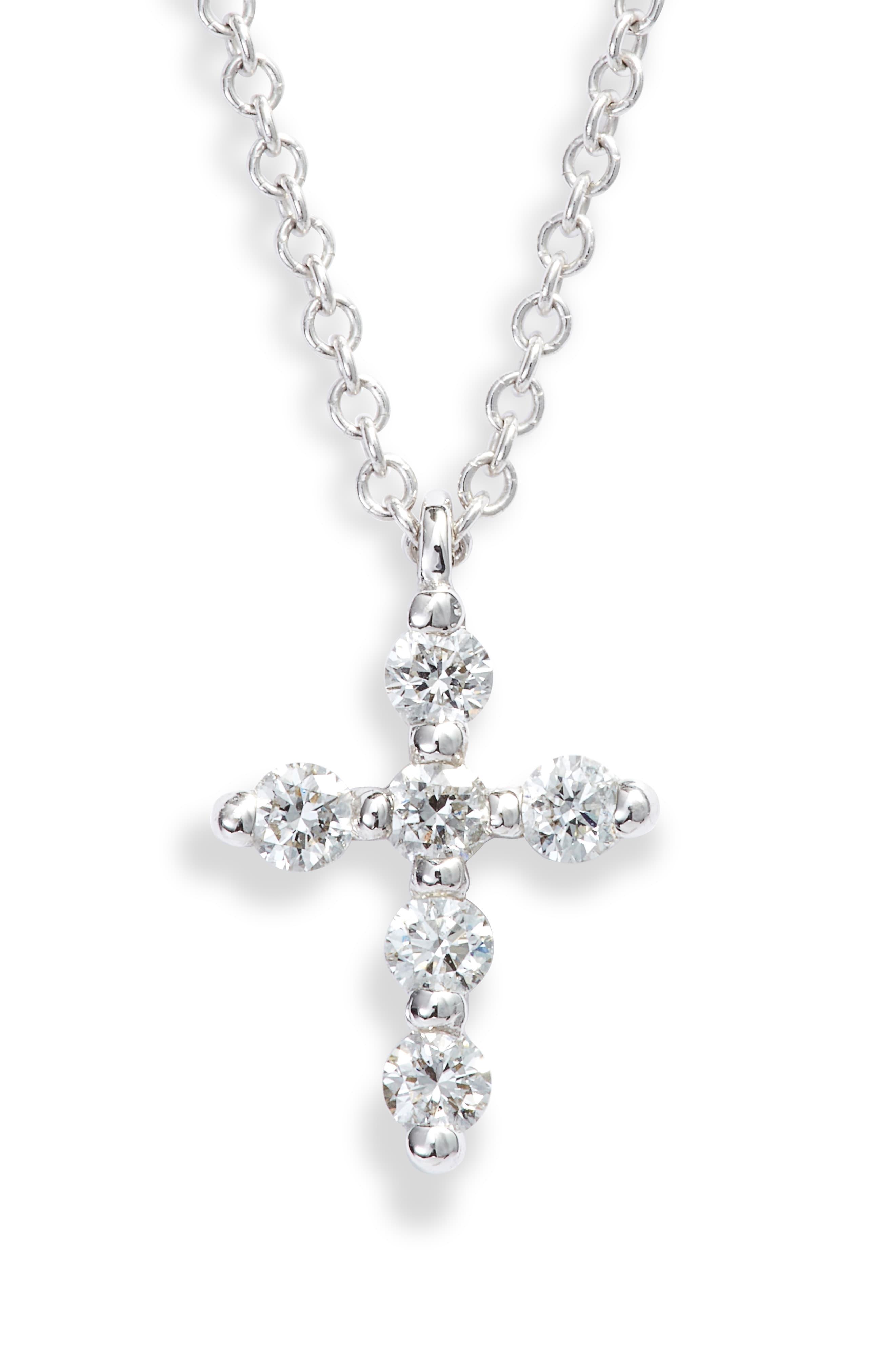 Bony Levy Diamond Cross Pendant Necklace Nordstrom