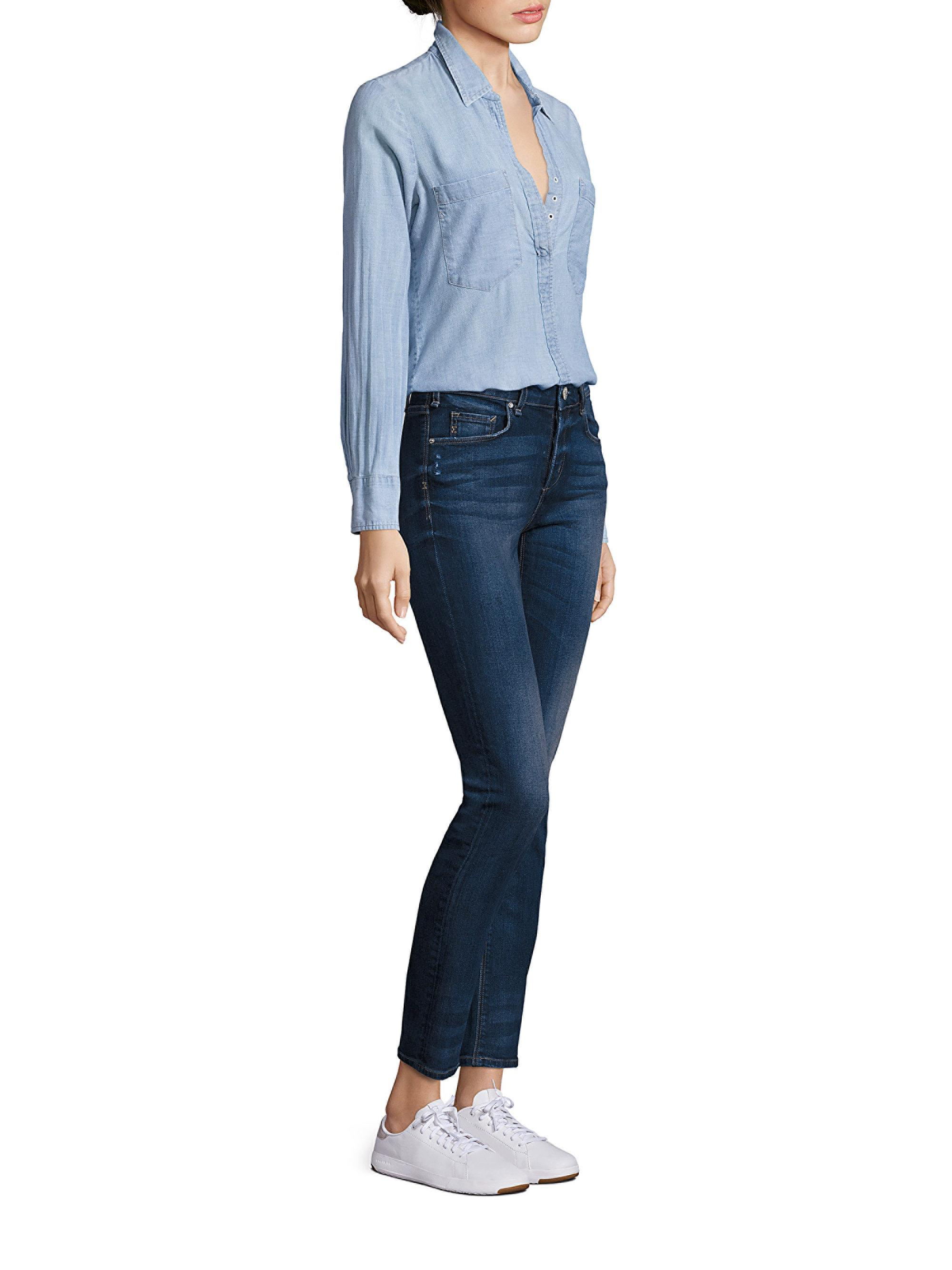 Mcguire Shoreleave Cotton Chambray Shirt In Blue Lyst