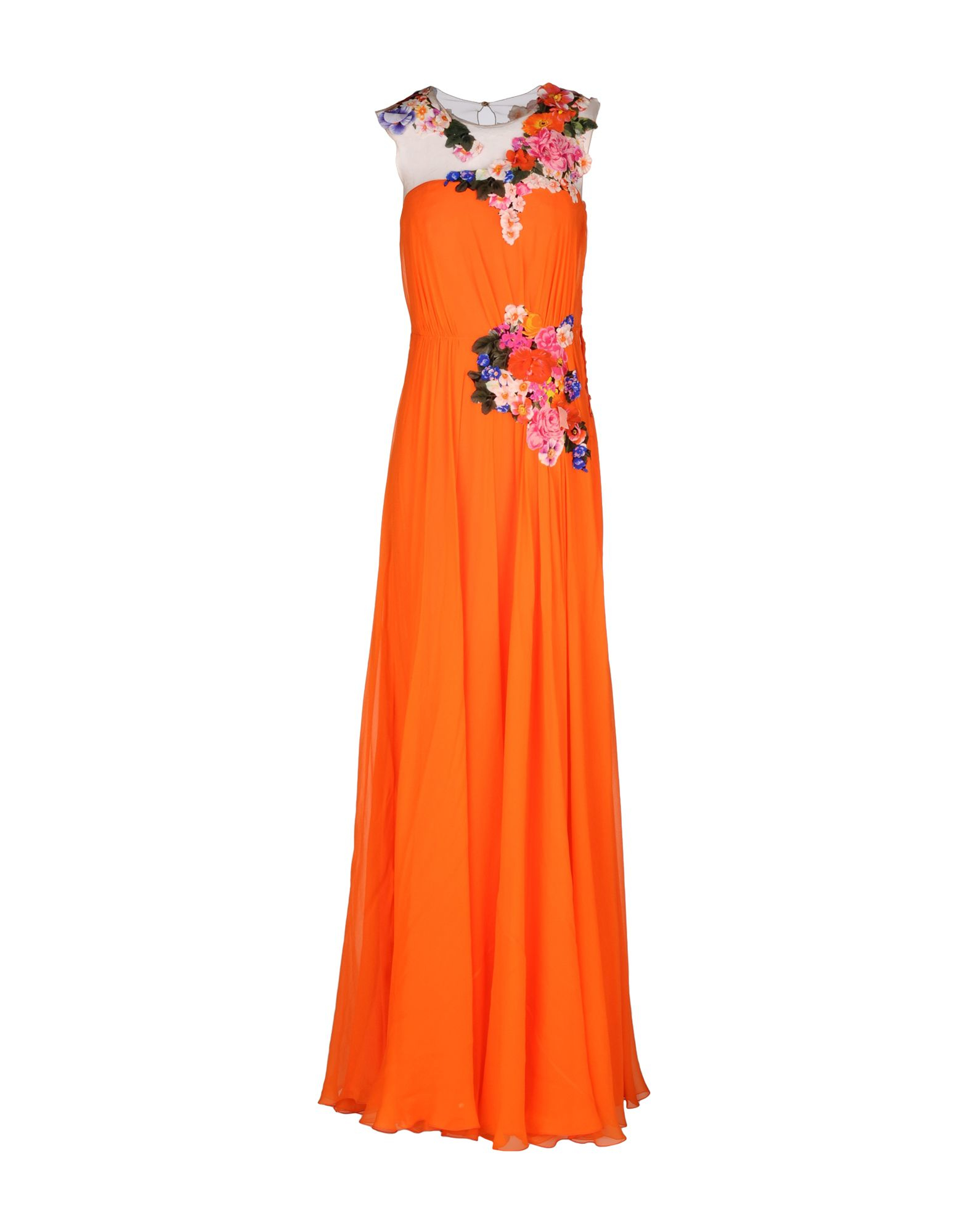 Lyst Alberta Ferretti Long Dress In Orange