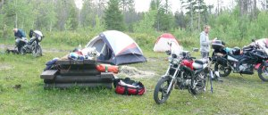 bella coola motorcycle camping