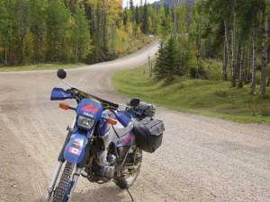 forestry trunk road alberta motorcycle