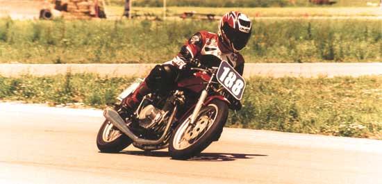Honda CB350 vintage racer