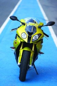 s1000rr parked at the track front