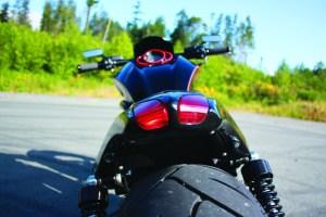 Barnes Harley-Davidson Custom black Night Rod tail piece