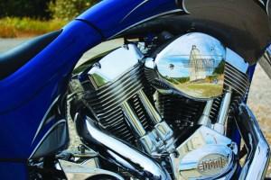 big dog motorcycles k-9 engine close-up