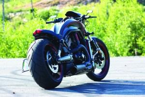 Barnes Harley-Davidson Custom black Night Rod right rear