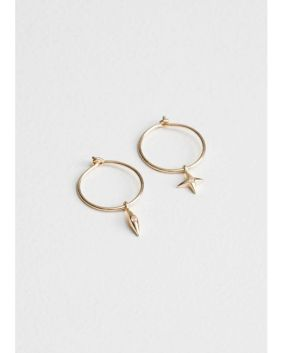& Other Stories - Metallic Star Hoop Earrings - Lyst