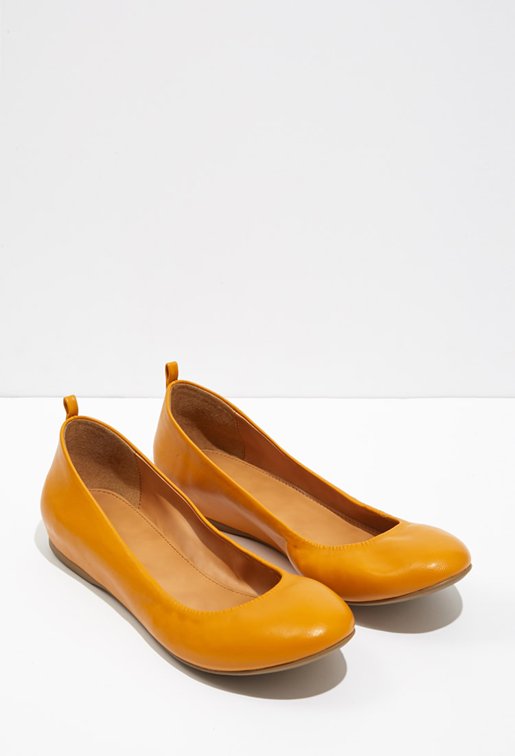 Forever 21 Classic Ballet Flats In Orange Lyst