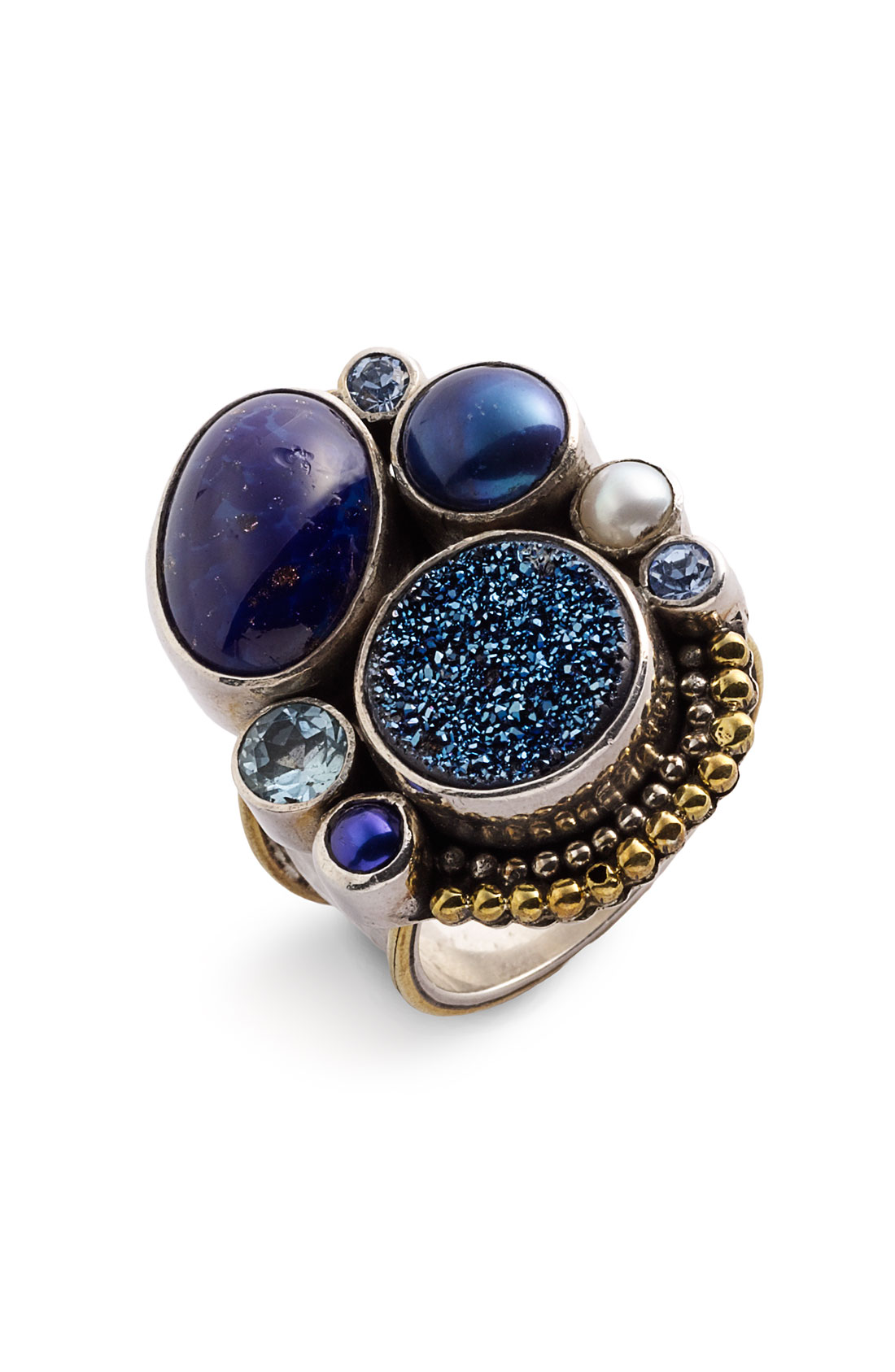 Mars And Valentine Twilight Zenith Ring In Blue Blue
