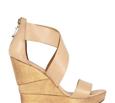 Diane Von Furstenberg Opal Wood Heel Leather Sandal