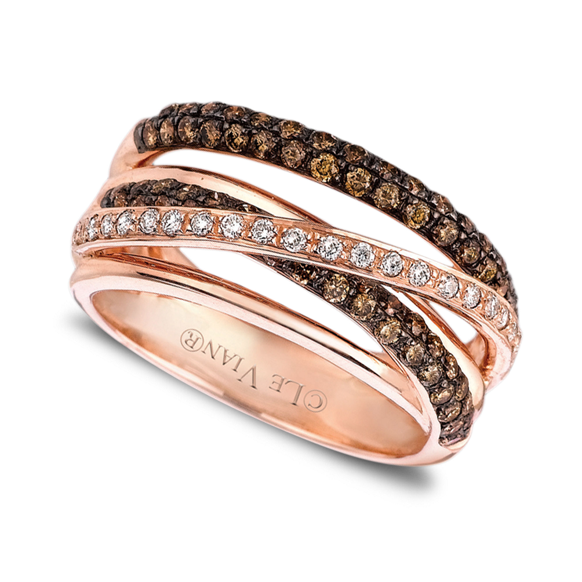 Lyst Le Vian 14k Rose Gold White And Chocolate Diamond