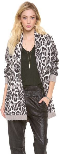 Wild Lynx Jacquard Cardigan-Juicy Couture